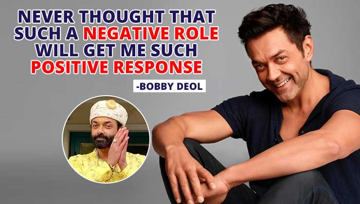 Bobby Deol: Never thought such a negative role in 'Aashram' will get me such positive response | Bollywood Bubble