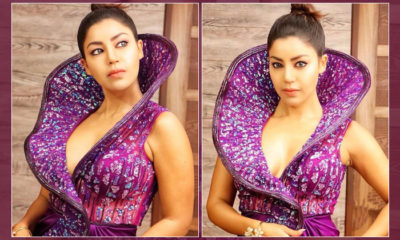 Debina Bonnerjee stuns in a purple gown as she bags the Fittest Icon Award - view pics   Bollywood Bubble
