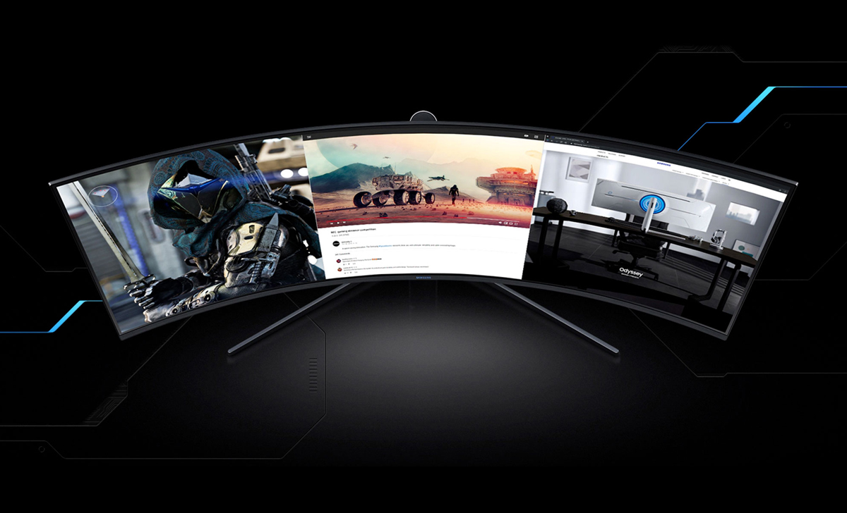 Gaming without damaging the eyes, Samsung unveiled the curved monitor Odyssey