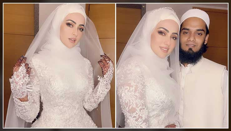 Newlywed Sana Khan celebrates one week of marriage; shares some more dreamy pictures from her wedding | Bollywood Bubble