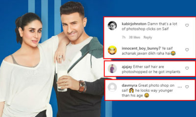 "Saif Ali Khan gets brutally trolled for his recent ad still; netizens say, ""Too much photoshop in action"" 