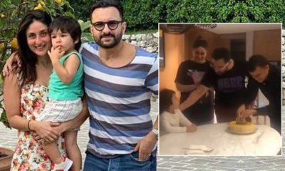 Taimur Ali Khan enthusiastically sings 'Happy Birthday' with Saif & Kareena; Have you seen this cute video yet? | Bollywood Bubble