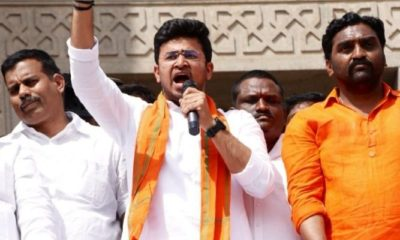 Tejasvi Surya pays tribute to Telengana movement martyrs at Osmania University