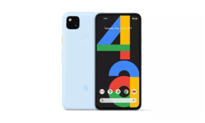 The launch is a barely blue color variant of the Google Pixel 4a