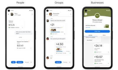 The new look includes Google Pay, the logo and several new features