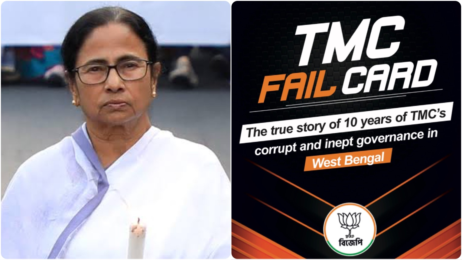 'TMC Fail Card' released to described the misrule of TMC in West Bengal