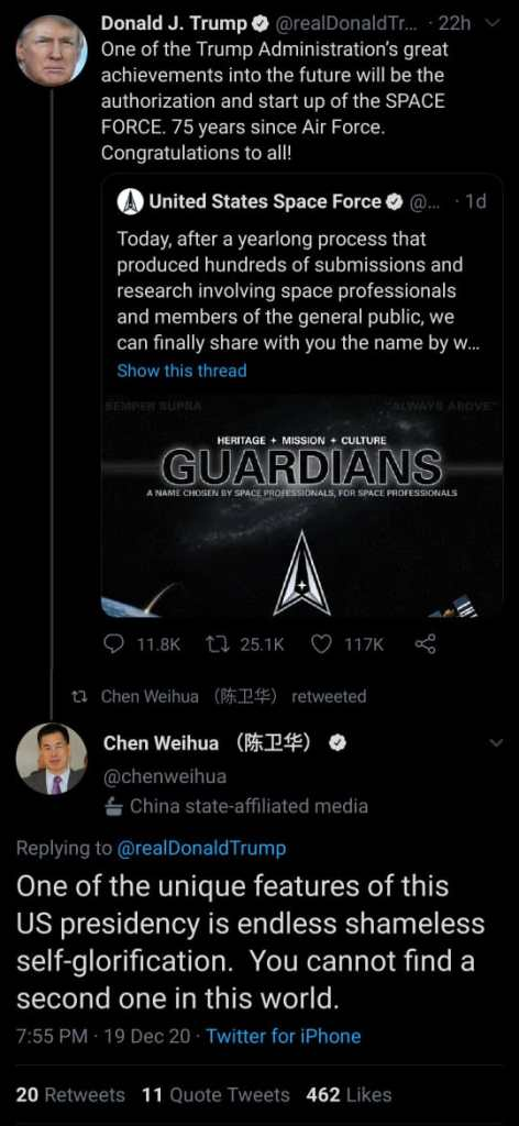 Chen Weihua is clearly not fond of the US political system