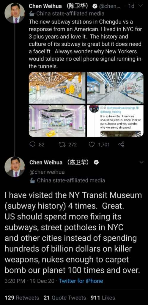 Chen Weihua has a suggestion for American politicians