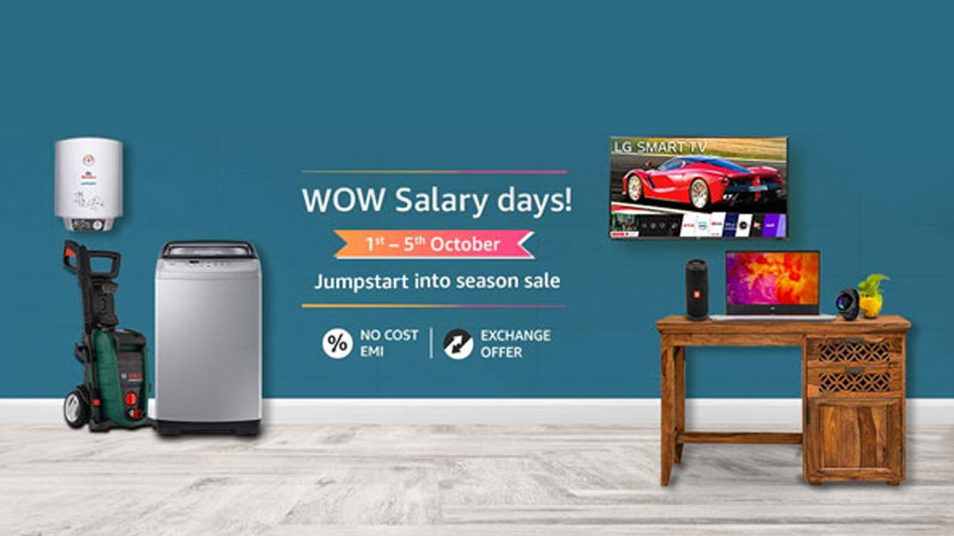 30 percent discount on TV, laptop, headphones, Amazon WOW Salary Days sale is going on