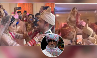 Aditya Narayan shares a hilarious video from his wedding to Shweta Agarwal; it features GOAT Amitabh Bachchan | Bollywood Bubble