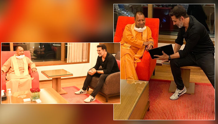 Akshay Kumar meets UP CM Yogi Adityanath in Mumbai; here's what they discussed | Bollywood Bubble