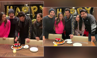 Anil Kapoor celebrates his 64th birthday with the cast of Jug Jugg Jeeyo | Bollywood Bubble
