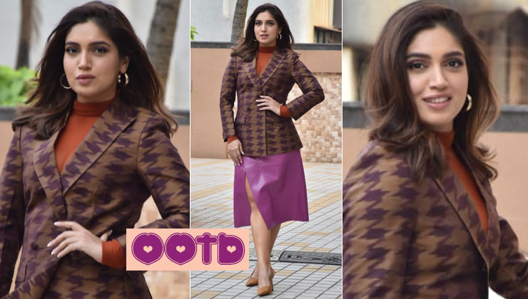 Bhumi Pednekar amps up the fashion quotient in this contrasting outfit-view pics | Bollywood Bubble