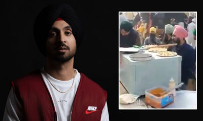 Diljit Dosanjh gives a befitting reply to those questioning farmers' pizza langar | Bollywood Bubble