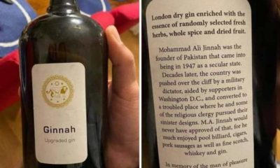 A picture of a wine bottle named after Pakistan's founder Muhammad Ali Jinnah has been going viral on social media websites