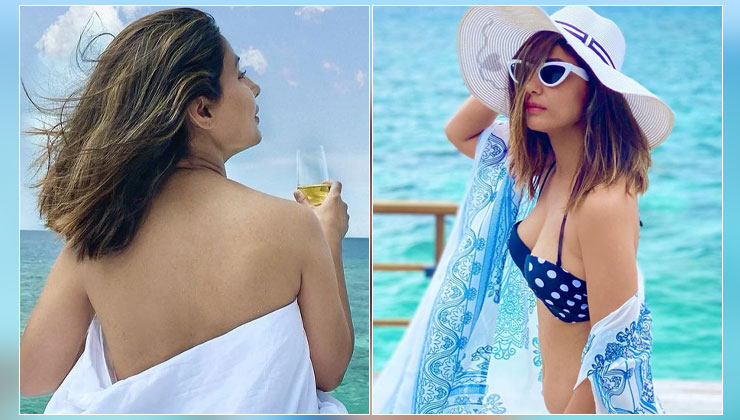 Hina Khan's topless & bikini pics from Maldives vacation take the internet by storm | Bollywood Bubble