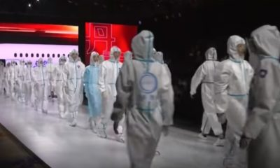 After exporting Coronavirus, China holds 'fashion show' of protective gear
