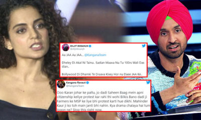 "Kangana Ranaut calls Diljit Dosanjh 'Karan Johar ka paltu'; singer hits back saying, ""Dheley ki akal nai"" 