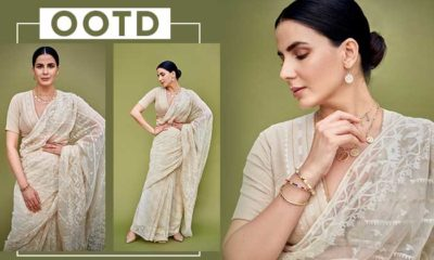 Kirti Kulhari sets fashion goals in her serene white saree look -view pics | Bollywood Bubble