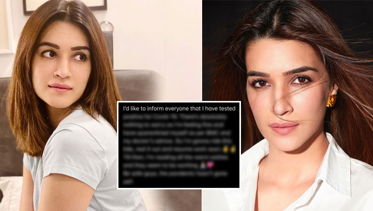 """Kriti Sanon tests positive for Covid-19; says, """"Be safe, the pandemic hasn't gone yet"""" 