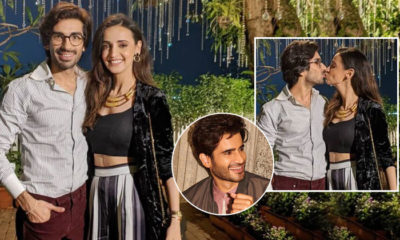 Mohit Sehgal and Sanaya Irani share a kiss on the former's birthday; Karan Tacker's reaction is EPIC | Bollywood Bubble