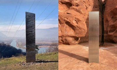 Mysterious monolith appears in Romania after similar one disappeared in Utah