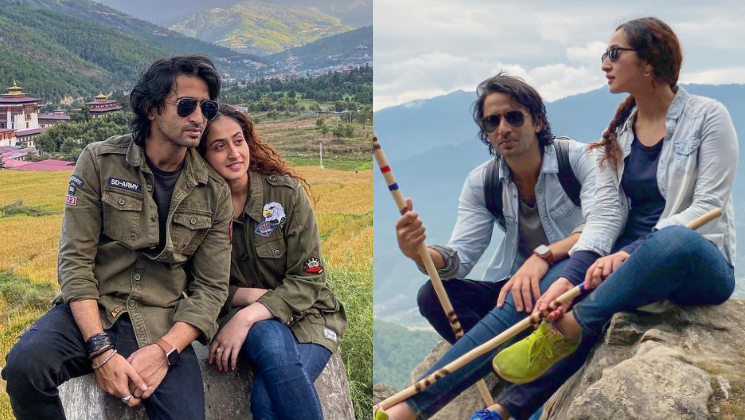 Newlywed Shaheer Sheikh twins with wife Ruchikaa Kapoor on their honeymoon; shares stunning pic from Bhutan | Bollywood Bubble