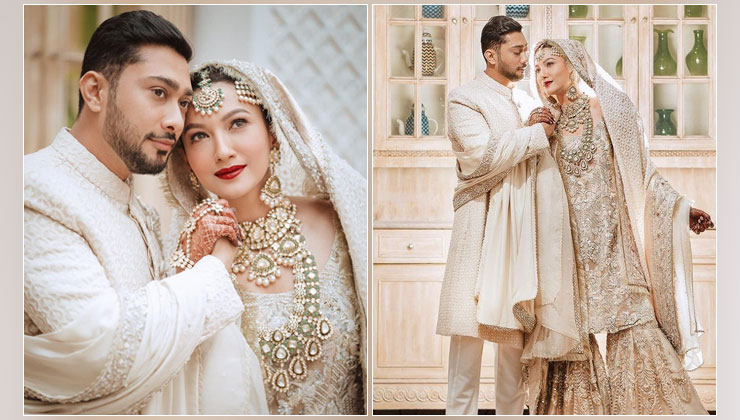 Newlyweds Gauahar Khan and Zaid Darbar share stunning glimpses from their Nikaah ceremony | Bollywood Bubble