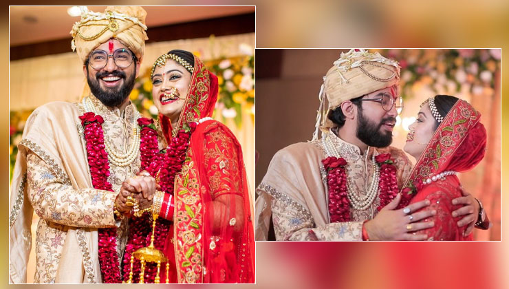 Newlyweds Sachet Tandon and Parampara Thakur share stunning glimpses from their intimate wedding- watch | Bollywood Bubble