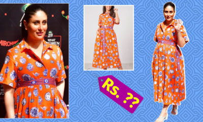 Here is how much Kareena Kapoor's pottery print orange shirt dress costs   Bollywood Bubble