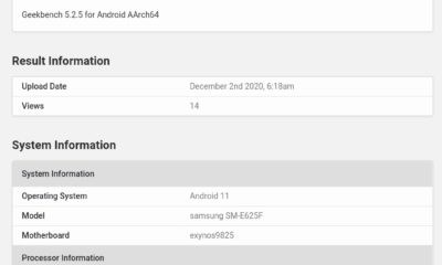 Samsung SM-E625F (F62) Spotted On Geekbench