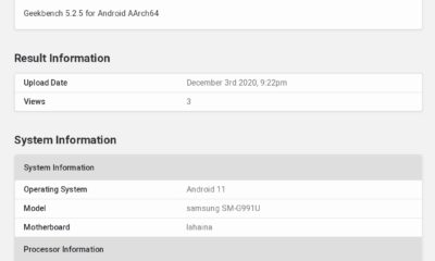Samsung Galaxy S21 spotted on Geekbench