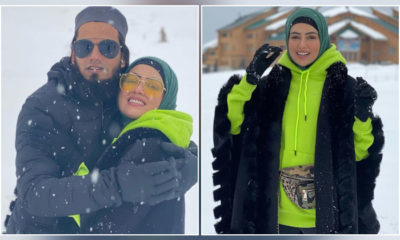 Sana Khan gets romantic with Anas Sayied as they enjoy their honeymoon in Kashmir-view pics | Bollywood Bubble