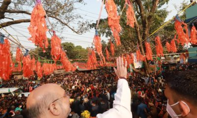 West Bengal: Amidst chants of Jai Shri Ram, Amit Shah holds a massive rally in Bolpur