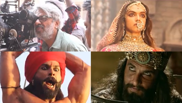 3 Years of Padmaavat: Sanjay Leela Bhansali shares unmissable BTS moments of Deepika Padukone, Ranveer Singh and Shahid Kapoor | Bollywood Bubble