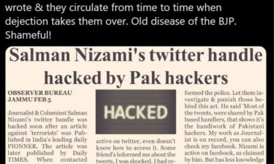 Salman Nizami claims his account was hacked