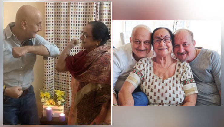 Anupam Kher pens heartfelt note for mother; recalls how she shaped him as a person | Bollywood Bubble