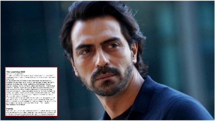 """Arjun Rampal shares the lessons 2020 taught him; clarifies, """"Never been on the wrong side of the law"""" 