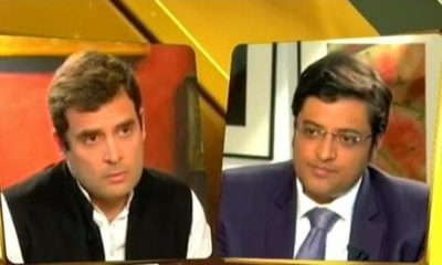 Arnab Goswami to sue Congress, challenges Rahul Gandhi to one-on-one debate