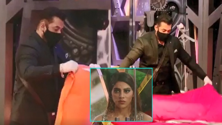 Bigg Boss 14: Salman Khan schools Nikki Tamboli for refusing to make Rakhi Sawant's bed; the actor later cleans it-watch video | Bollywood Bubble