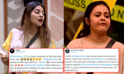 Bigg Boss 14 fans react to Nikki Tamboli bashing Devoleena Bhattacharjee for her #MeToo allegations | Bollywood Bubble