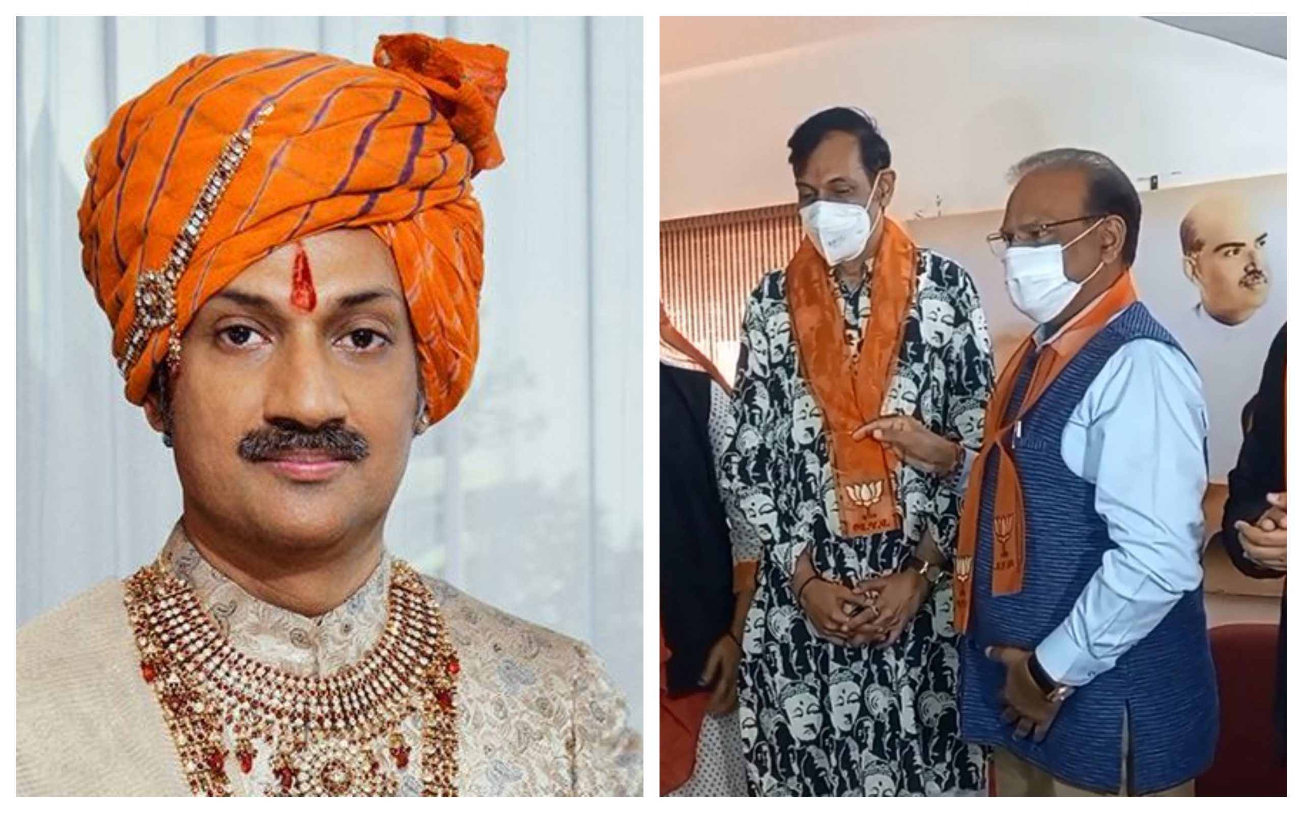 Gujarat: Rajpipla Prince Manvendra Sinh Gohil joins BJP along with large group of transgenders