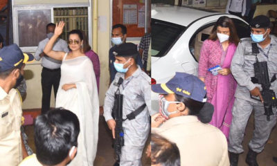 Kangana Ranaut and Rangoli Chandel arrive at Bandra Police station to record statements in sedition case-view pics | Bollywood Bubble