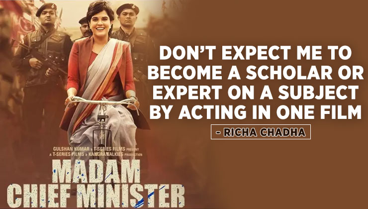 Madam Chief Minister: Richa Chadha pens an open letter after the trolling | Bollywood Bubble