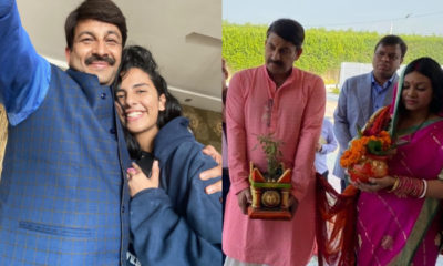 Manoj Tiwari reveals his elder daughter persuaded him to remarry; opens up on tying the knot amidst lockdown | Bollywood Bubble