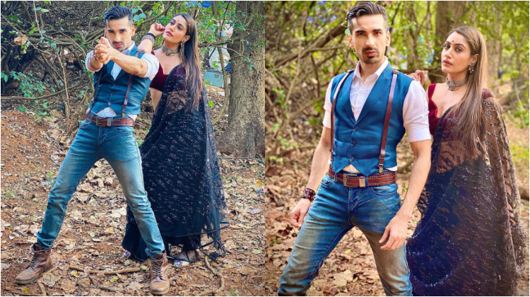 """Naagin 5: Surbhi Chandna on pic with Mohit Sehgal """"Straight out of Hollywood film poster"""" 