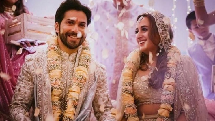 Newlyweds Varun Dhawan and Natasha Dalal look madly in love in their FIRST PIC from wedding | Bollywood Bubble