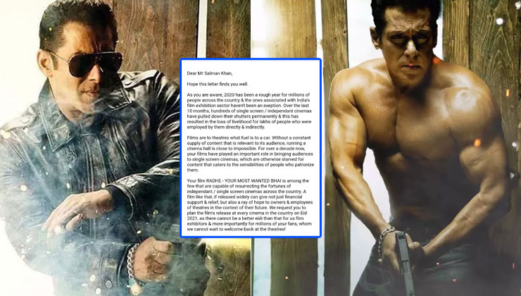 Radhe: Cinema associations appeal to Salman Khan to release his film in theaters for THIS reason | Bollywood Bubble