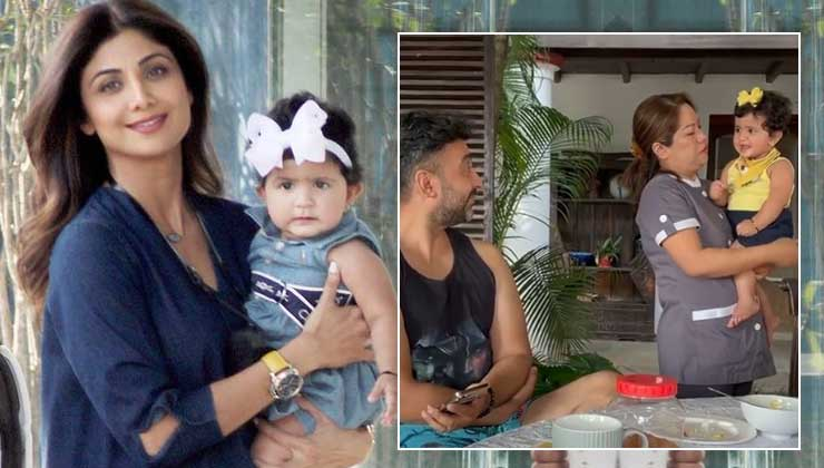Shilpa Shetty's daughter trying to mimic her father Raj Kundra's singing is the cutest thing you will see today-watch video | Bollywood Bubble