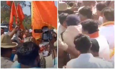 Shiv Sena picks fight with Karnataka, activists try to remove state flag in Belagavi